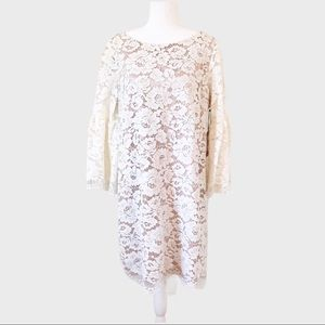 NEW Vince Camuto Ivy Floral lace cream dress 14